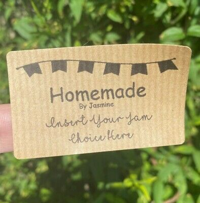 £2.99 • Buy Personalised Jam Jar Chutney Marmalade Stickers Homemade Preserve Tag Labels X42