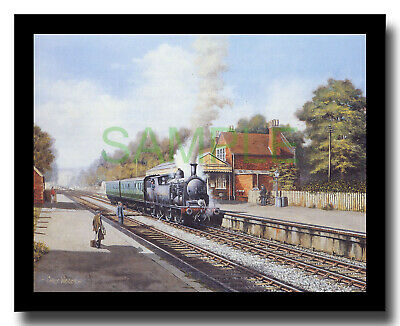 £8 • Buy Ex-LSWR Drummond M7 Southern 54 At Droxford Framed Picture Chris Woods
