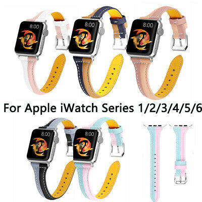 $ CDN10.45 • Buy IWatch Strap For Apple Watch Series 6 SE 5 4 3 2 1 Leather Band 38/40/42/44mm