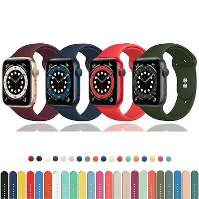 $ CDN5.20 • Buy 38/40/42/44mm Soft Strap Band Replacement For Apple Watch Series 6/5/4/3/2/1/SE