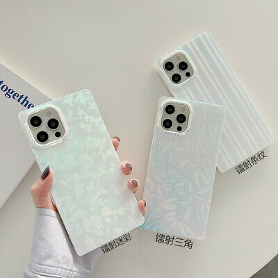 AU5.95 • Buy For IPhone 12 Pro Max 11 XR XS X 7 8 Plus Square Matte Marble Shell Case Cover
