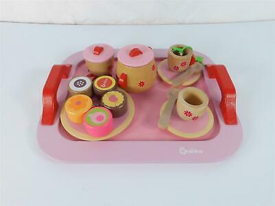 £21.99 • Buy Buyger 18 PCS Kids Wooden Tea Set Role Play Play Food Toys For 3 Year Olds Kids
