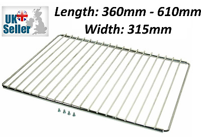 £9.95 • Buy 1 X UNIVERSAL ADJUSTABLE Cooker Oven Shelves Trays Wire Shelf Rack Grill Spares