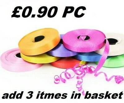 £1.49 • Buy 50 METERS BALLOON CURLING RIBBON FOR PARTY GIFT WRAPPING BALLOONS STRING TIE New