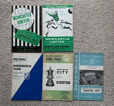 £3.45 • Buy Manchester City FA Cup Plus Millwall And Newcastle Football Programme From 1960s