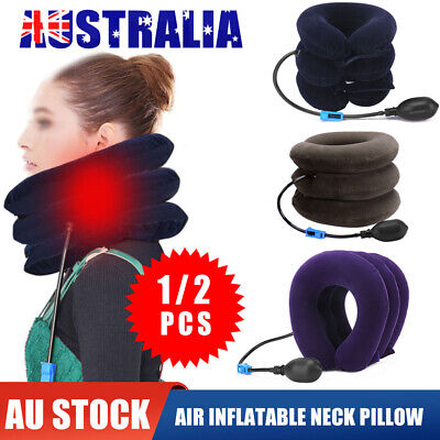 AU8.95 • Buy Air Inflatable Neck Pillow Head Cervical Traction Support Stretcher Pain Relief