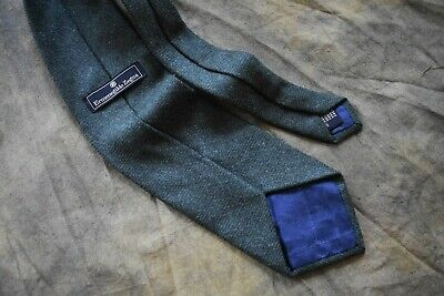£44.99 • Buy Incredible Ermenegildo Zegna Heavy Wool & Cashmere Solid Green Tie Made In Italy