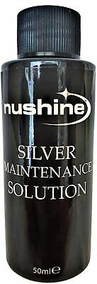 £7.99 • Buy Nushine Silver Cleaning Maintenance Solution 50mls - Renovate Your Silver Plate