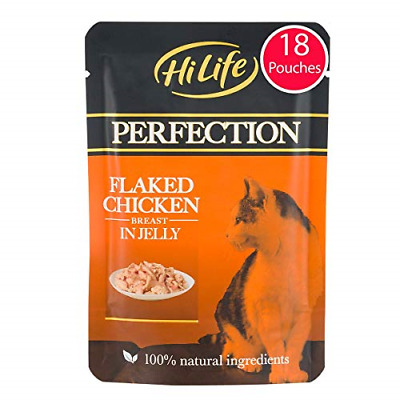 £16.04 • Buy HiLife PERFECTION - Wet Cat Food - Flaked Chicken Breast In Jelly, Natural Grain