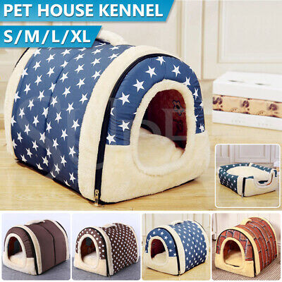AU32.55 • Buy Pet Dog House Kennel Soft Igloo Beds Cave Cat Puppy Bed Doggy Warm Cushion Fold