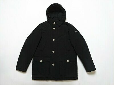 £129.99 • Buy Woolrich Men's Arctic Parka Down Filled Coat Size S Winter Jacket Black Small
