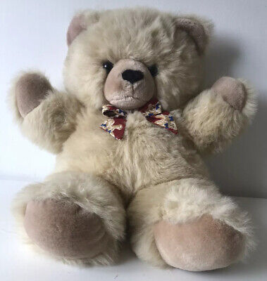 £9.99 • Buy Keel Toy Simply Soft Collection Vintage Blonde Honey Bear With Red Bear Bow 20