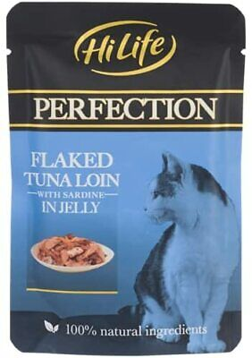£15.99 • Buy Cat Food Wet PERFECTION - 18X70g Flaked Tuna Loin With Sardine In Jelly