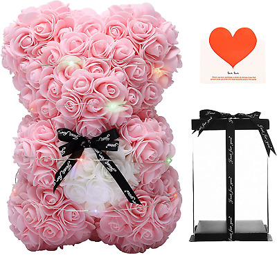 AU38.58 • Buy Valentines Day Gifts For Her - Rose Teddy Bear - Rose Flowers Bear, Unique Gifts