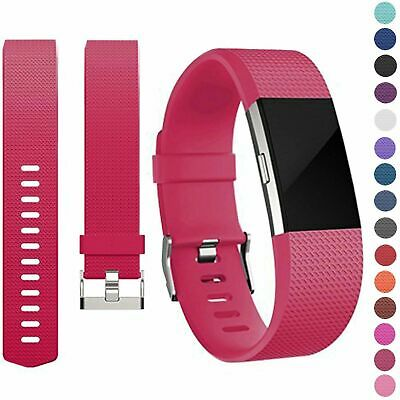 AU7.95 • Buy Silicone Metal Replacement Fitbit Charge 2 Band Wristband Watch Strap Bracelet