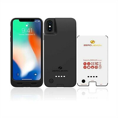 AU89.95 • Buy Zerolemon Battery Case Case For Iphone Xs X 10 Rugged Extended 8000mah New Y1342