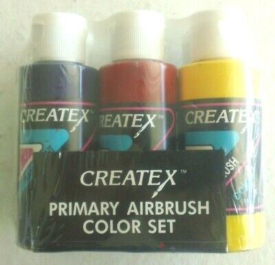 £8.69 • Buy NEW, SEALED Createx Primary Airbrush Color Set – Six Colors, 2 Oz. Each