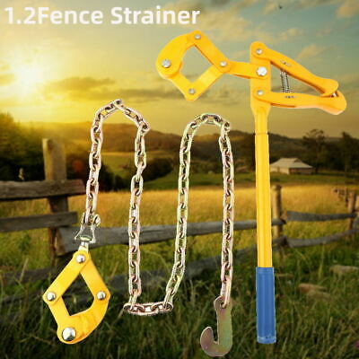 £48.24 • Buy 1.2M Farm Chain Strainer Monkey Cattle Wire Fence Puller Stretcher Tensioner