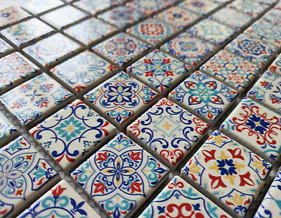£9.98 • Buy New Classic Moroccan Style Ceramic Square Mosaic Wall Tiles Turkish Geometric