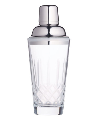 £16.99 • Buy BarCraft Cocktail Shaker Cut Glass And Stainless Steel 400 Ml