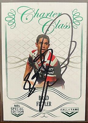 AU25 • Buy Brad Fittler Sydney Roosters 2018 Tla Nrl Glory Charter Class Signed Card