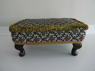 £24.99 • Buy Vintage Sherborne Foot Stool/Seat-Queen Anne Style Legs-Tapestry Cover 7  High