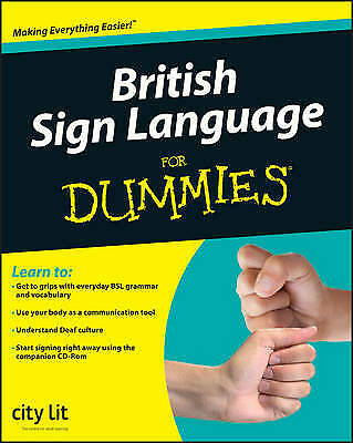 £8 • Buy British Sign Language For Dummies By City Lit (Paperback 2008) - Book Only No CD
