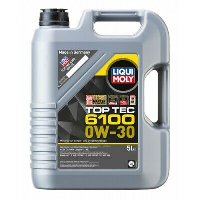 AU106.95 • Buy Liqui Moly Top Tec 6100 Synthetic Technology Engine Oil 0W-30 5L Fits BMW 3 S...