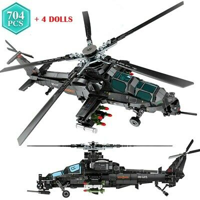 £27.56 • Buy 704pcs  Attack Helicopter Building Blocks Set Military Army Modern Military Toys