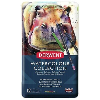 £8 • Buy Derwent Watercolour Collection - Professional Quality - 12 Pencils - Brand New ✔