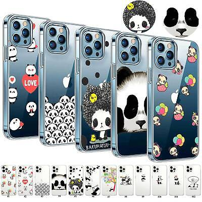 £3.59 • Buy Ultra Thin Panda Patterned Soft TPU Case Cover For IPhone 12 11 Pro Max 7 8+ SE