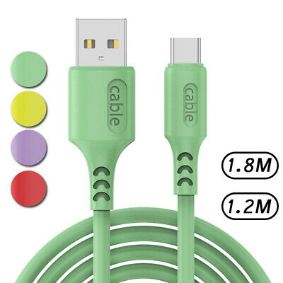 AU3.56 • Buy Liquid Silicone Cord Fast Charge Type C Charger USB C Cable For Samsung A51 A21