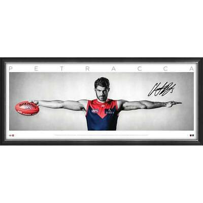 AU495 • Buy Christian Petracca Signed Melbourne Demons Official AFL Wings Print Framed + COA
