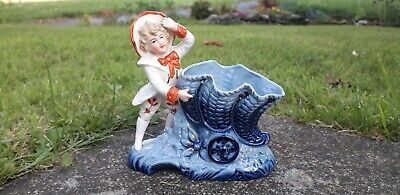 £5 • Buy Antique China Victorian Posy Vase Figure Ornament Possibly German Fairing
