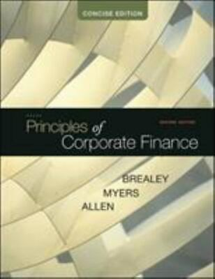 £18.18 • Buy Principles Of Corporate Finance, Concise By Stewart C. Myers, Richard A. Brealey