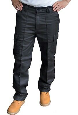 £11.99 • Buy Toughened Combat Cargo Utility Work Trousers Pants 6 Pocket Sizes 32 To 42 Waist
