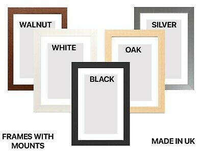 £3 • Buy A1 A2 A3 A4  A5 Black White Photo Picture Frames With Black White Or Ivory Mount