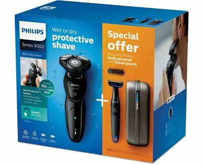 AU149.99 • Buy Philips Shaver Series 5000 Wet And Dry Electric Shaver Combo S5570/44