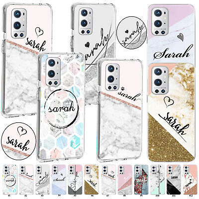 AU9.35 • Buy For OnePlus Nord 100 9R 8 Pro Personalised Initials Name Joint Marble Case Cover