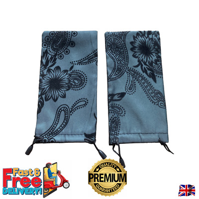 £2.99 • Buy Sunglasses Case Bag Floral Style Soft Good Quality + Free Microfibre Cloth