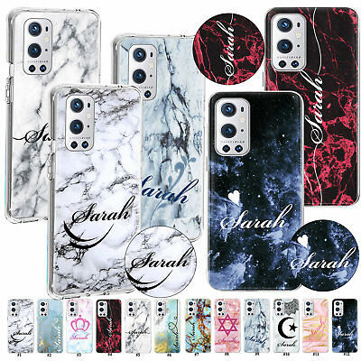 AU9.33 • Buy For OnePlus N200 5G N100 9R Personalised Initials Name Texture Marble Case Cover