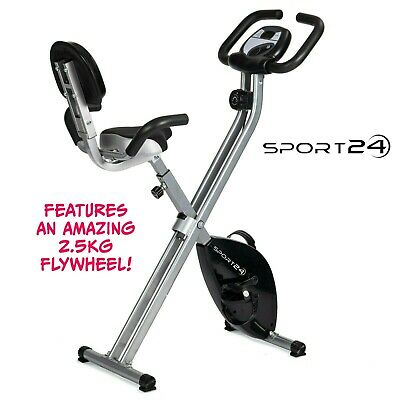 £89.99 • Buy Folding Foldable Upright Exercise Bike Bicycle For Indoor Home Gym Fitness Cycle