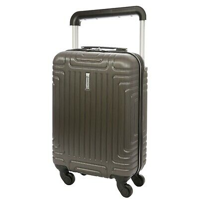 £27.99 • Buy Aerolite ABS Hard Shell 4 Wheel Carry On Hand Cabin Luggage Suitcase Charcoal