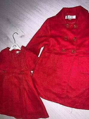 £25 • Buy COUCHE TOT RED COAT & DRESS • Age 2-3 Years