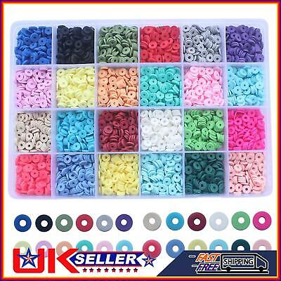 £11.99 • Buy 1Set Flat Polymer Clay Beads Spacer For DIY Bracelets Jewelry Making Finding Kit