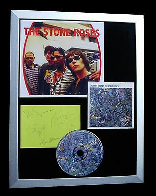 £349.95 • Buy Stone Roses+signed+framed+sally Cinnamon+drums=100% Authentic+fast Global Ship