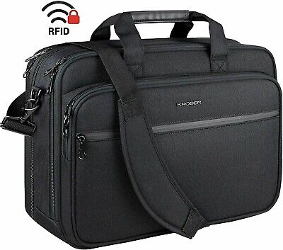 AU55.50 • Buy Laptop Bag 18  Expandable Fits Up To 17.3  Briefcase Large Travel Water-Repellen