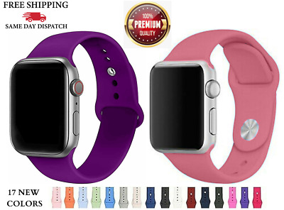 AU6.75 • Buy For Apple Watch Band IWatch Sport Silicone Strap Replacement Series 6/5/4/3/2NEW