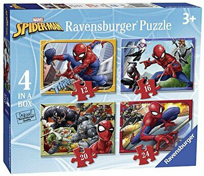 £5.99 • Buy Ravensburger Marvel Spiderman 4 In Box (12, 16, 20, 24 Piece) Jigsaw Puzzles