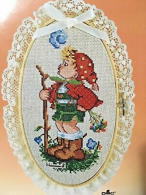 £8.50 • Buy Paragon Needlecraft Counted Cross Stitch Kit With Hoop Hummel PEASANT BOY #2503